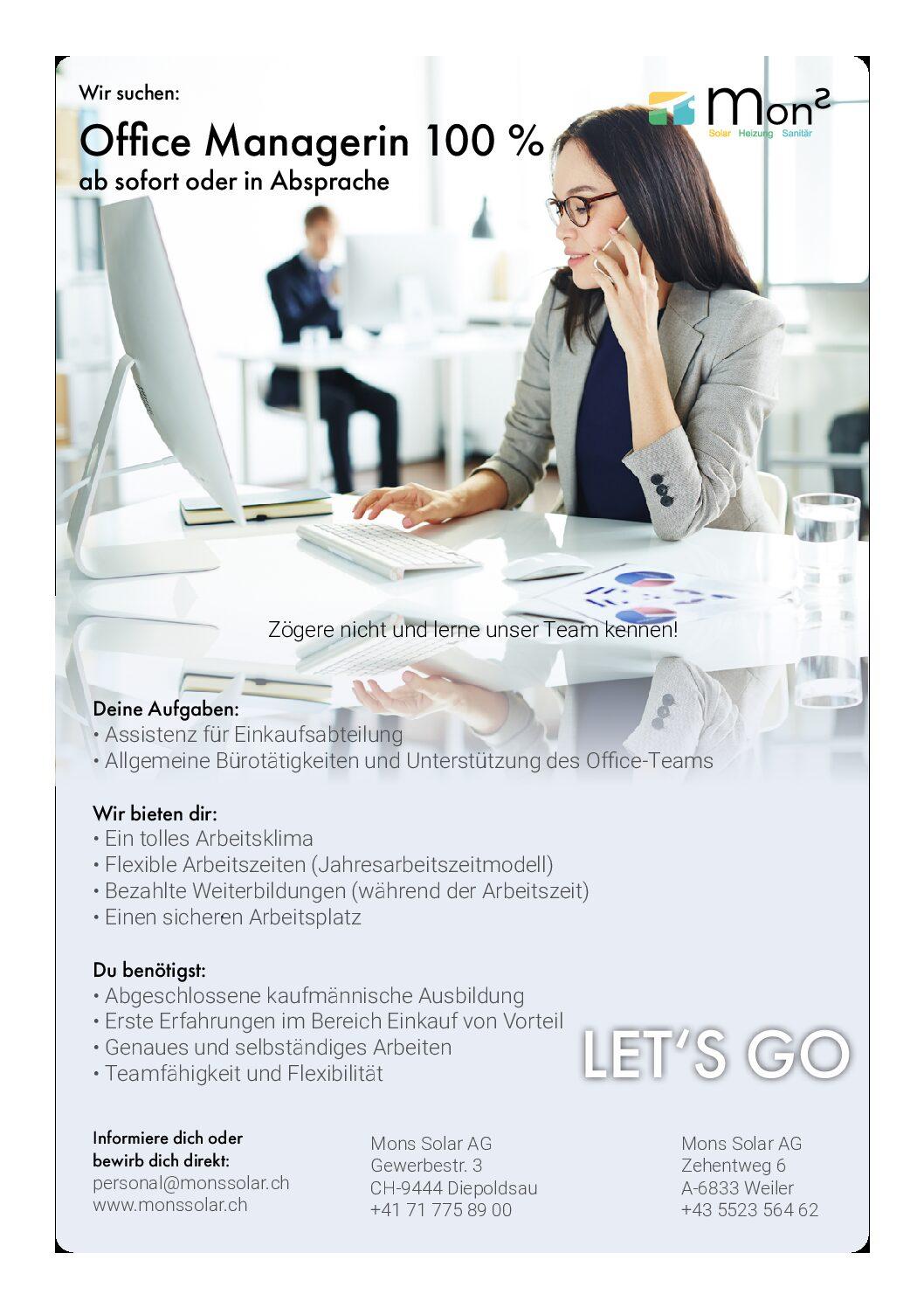 Office Assistenz Einkauf