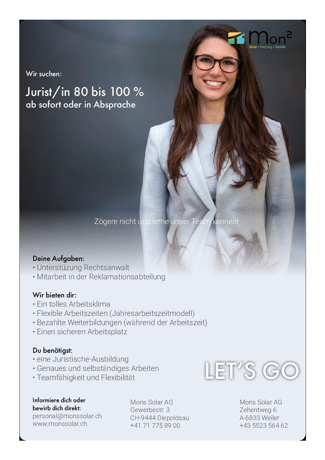 Juristin 80-100 %